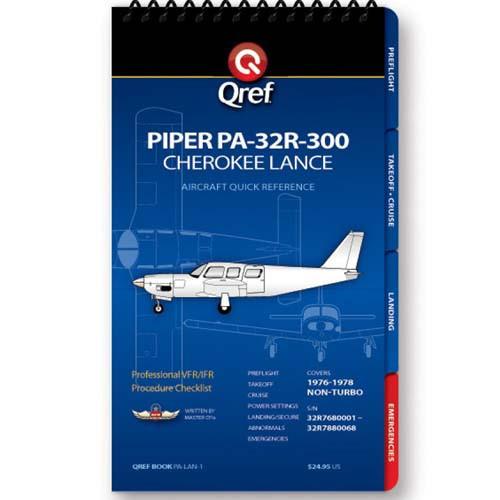 Piper Cherokee Lance PA-32R-300 Qref Checklist