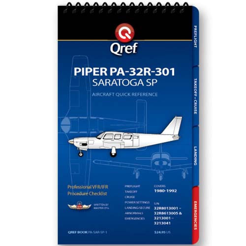 Piper Saratoga SP PA-32R-301 Qref Checklist