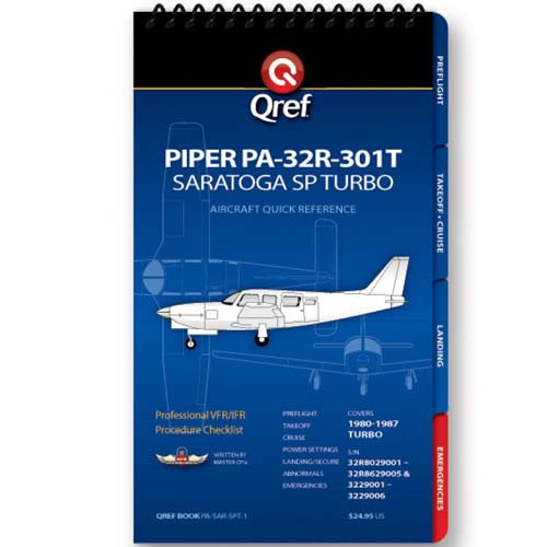 Piper Saratoga SP Turbo PA-32R-301T Qref Checklist
