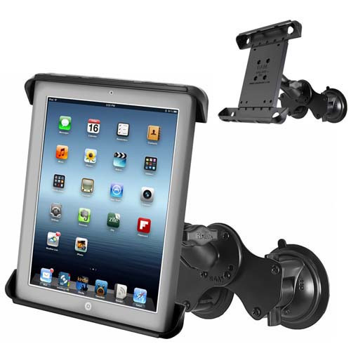 "Double Suction Cup with Tab-tite For 10"" Tablet"