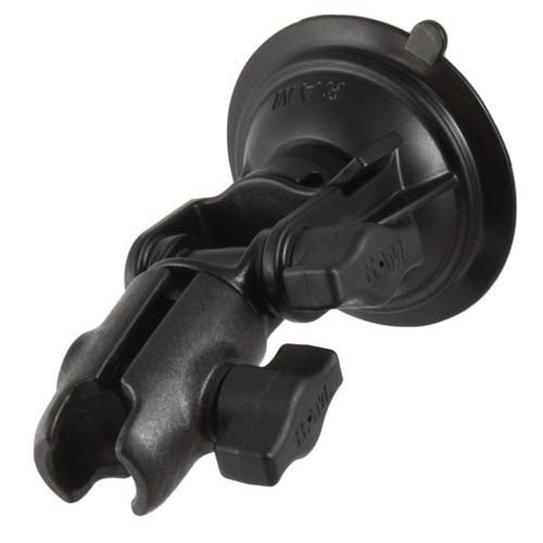 Suction Cup Ratchet & Pivot Mount with Single Socket