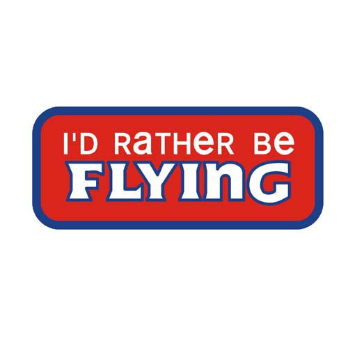 Rather be Flying - Iron On Badge