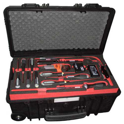 Mobile Mechanics Tool Kit in Case with Wheels