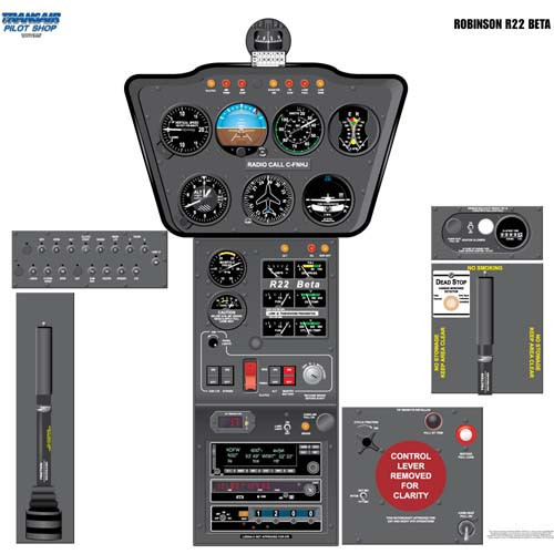 R 22 BETA Cockpit Training Poster