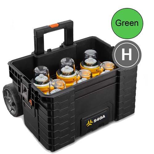 Helipad TLOF Lights (Portable 6 Pack (Green)