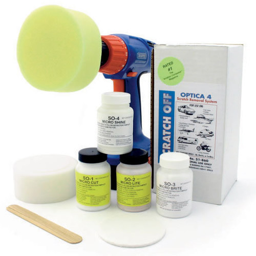 Scratch off polishing kit