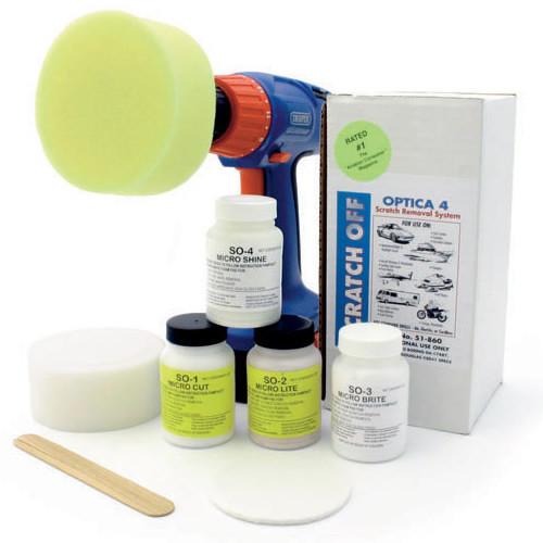 Scratch off polishing kit