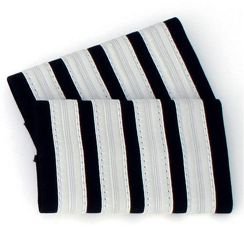 Four Bar Silver Epaulettes