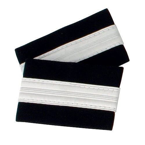 One Bar Silver Epaulettes