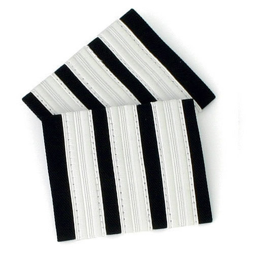 Three Bar Silver Epaulettes