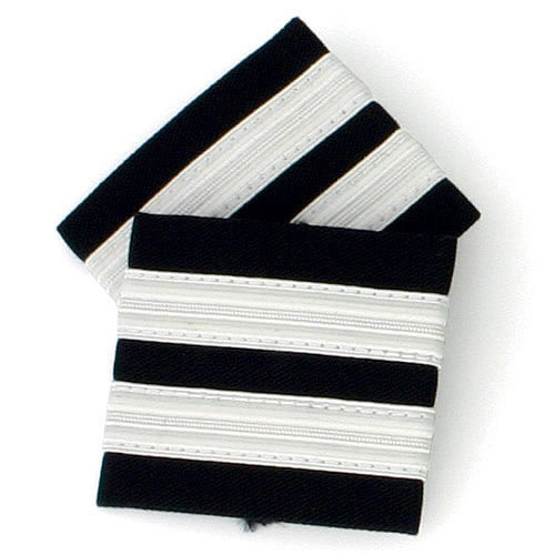 Two Bar Silver Epaulettes