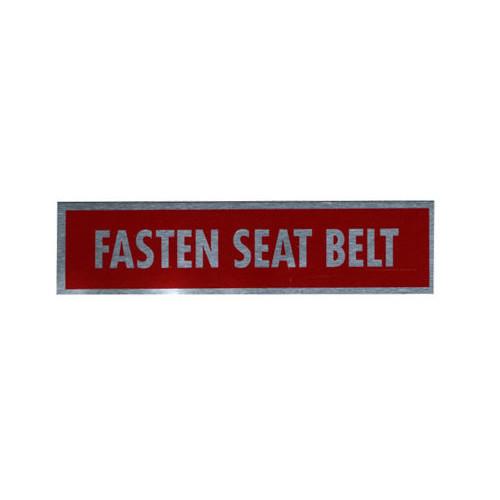 Placard-Fastern Seat Belt (2 1/4 x 1/2)