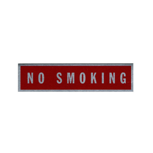 Placard-No Smoking (2 1/2 x 9 1/16)