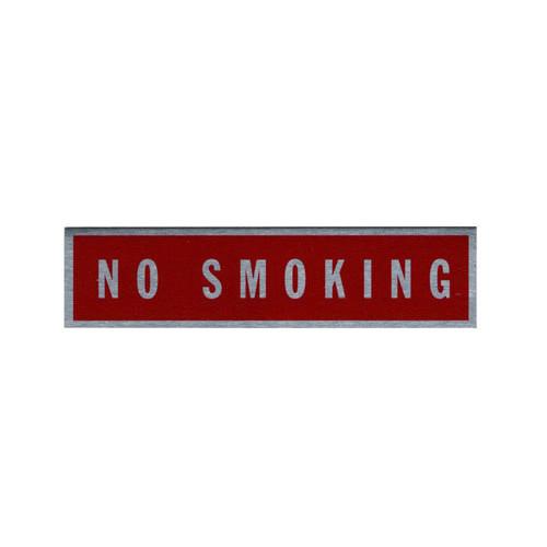 Placard-No Smoking (2 1/2 x 9 1/16)