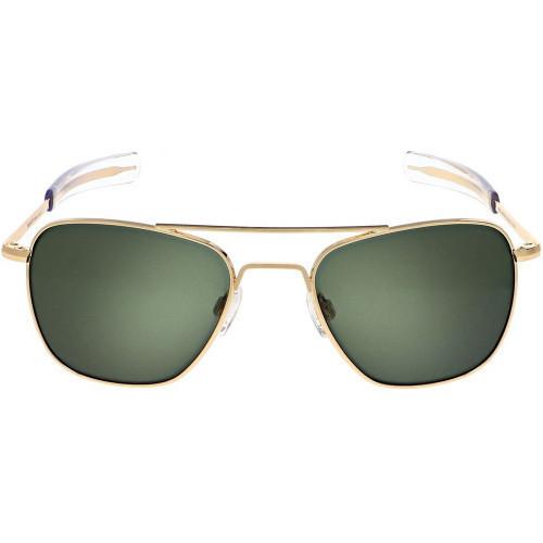 Randolph Aviator Sunglasses 23K Gold AGX Lens