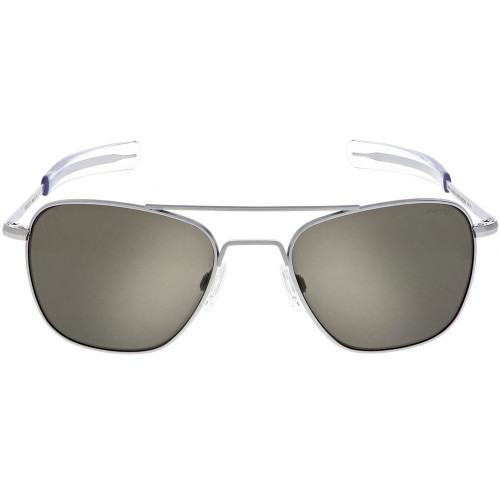 Randolph Aviator Matte Chrome American Gray Lens