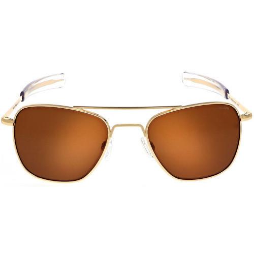 Randolph Aviator 23K Gold Sunglasses American Tan Lens