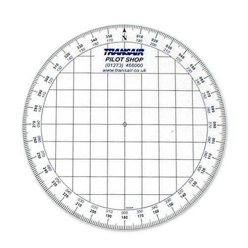 Transair Round Navigation Protractor