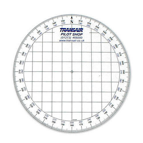 Transair Round Navigation Protractor