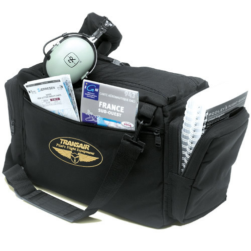 Black Transair Traveller Pilots Bag