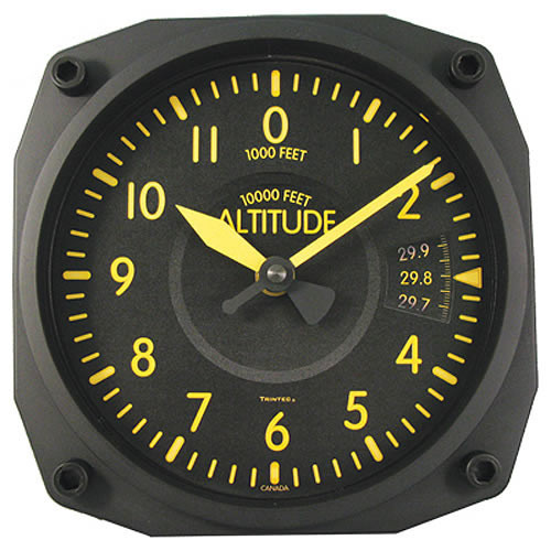 """6"""" WALL CLock - Altimeter - VINTAGE Indicator"""