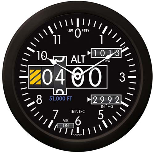 "Altimeter Wall Clock-14"""