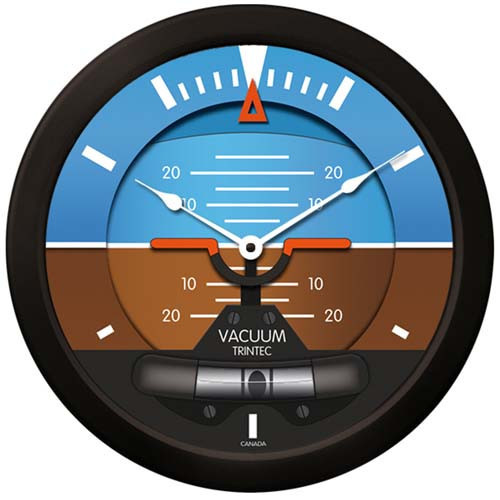Artificial Horizon  Wall CLock-14""