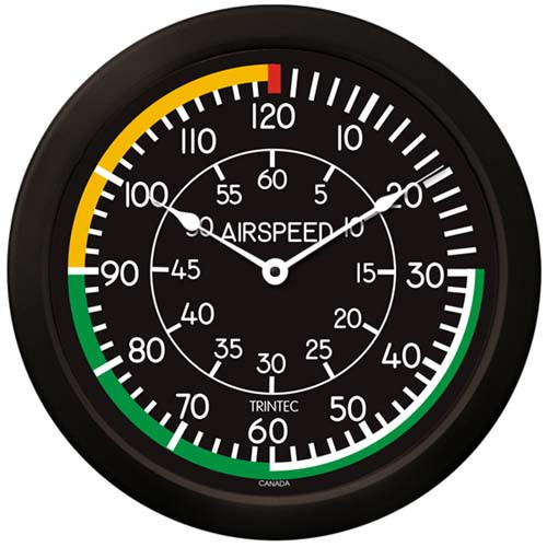 Air Speed Indicator  Wall CLock-14""