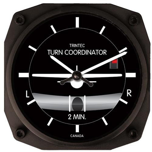 """6"" Wall CLock - Turn & Bank Indicator"""