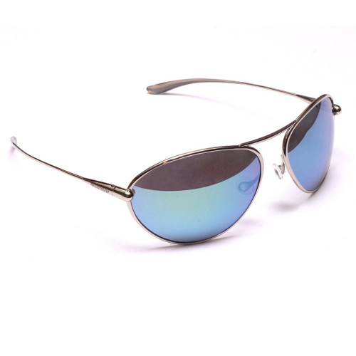 Bigatmo - Tropo Polished Titanium Frame - Grey High Contrast lens