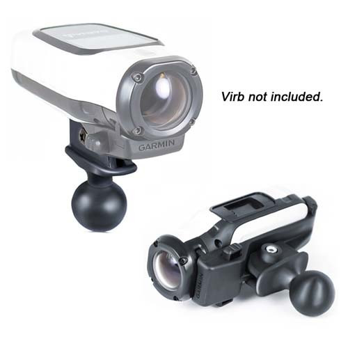 """Mounting bracket For Virb camera with 1"""" ball"""