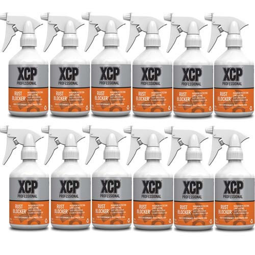 XCP Professional Rust Blocker 12 x 500ml Trigger Sprays