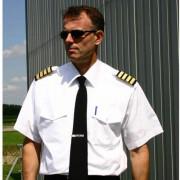 Mens Pilot Shirt White Long Sleeve