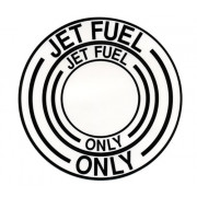 Decal-Jet Fuel Black (Diam 4 1/2)